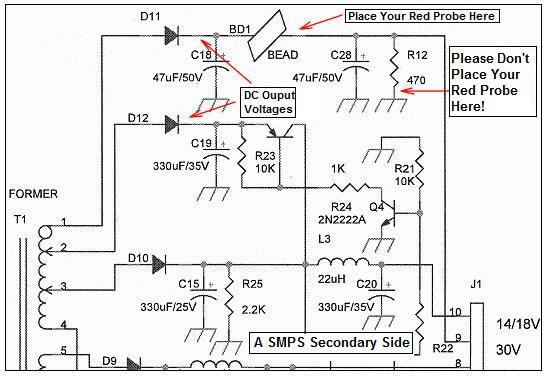 how to perform a simple voltage test on circuit board