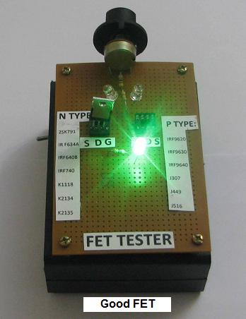 how to test fet