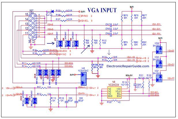 hdmi to vga pinout wiring diagram troubleshooting lcd tv tv to vga schematic #13