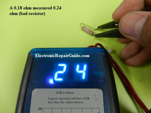 esr meter check on low ohm resistor