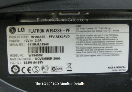lg monitor details