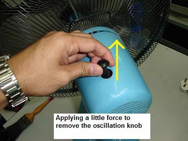 servicing table fan table fan oscillation knob