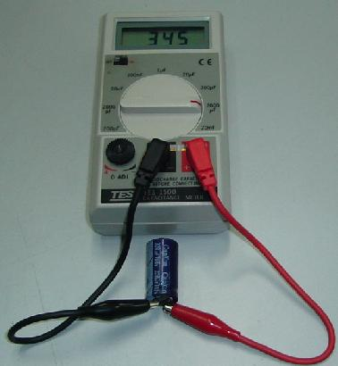 how to find capacitance of a capacitor using multimeter