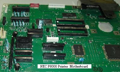 nec p8000 printer repair