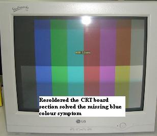 missing blue color
